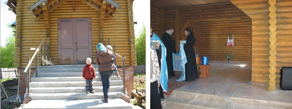 Первая служба в храме