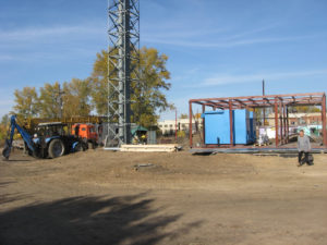 Строительство модульной котельной. 2013 год